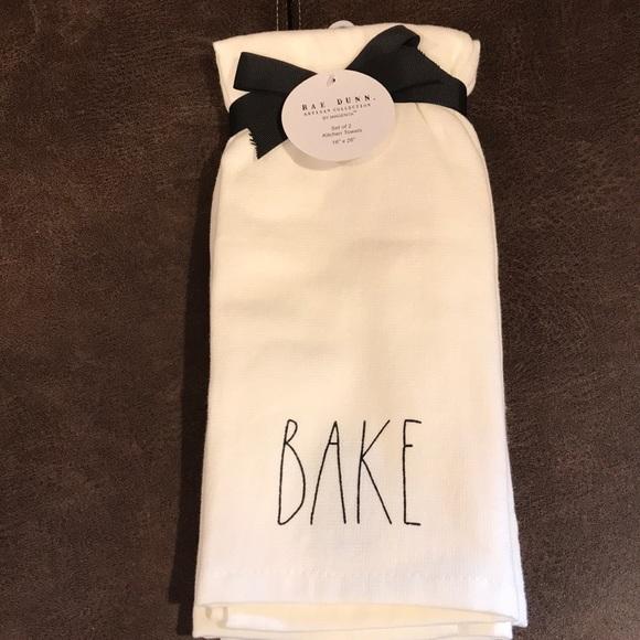 NWT Rae Dunn kitchen towels